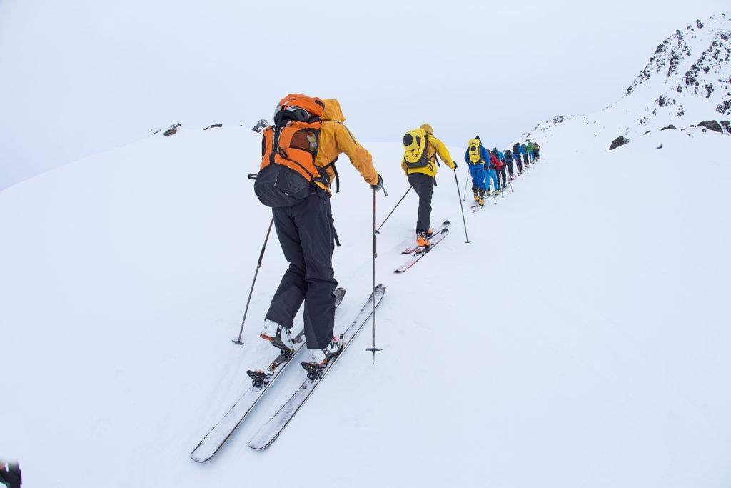 Skimountaineering in the Lofoten islands