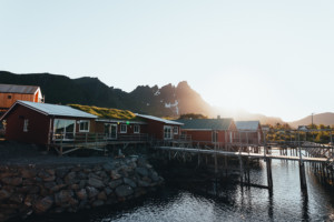 Fisherman cottages at Hattvika Lodge