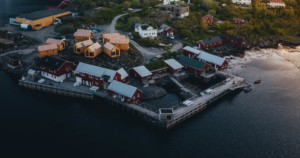 Overview of Hattvika Lodge in the Lofoten islands
