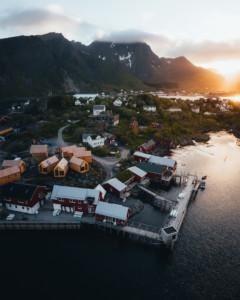 New Hattvika Hillside at Ballstad in the Lofoten islands