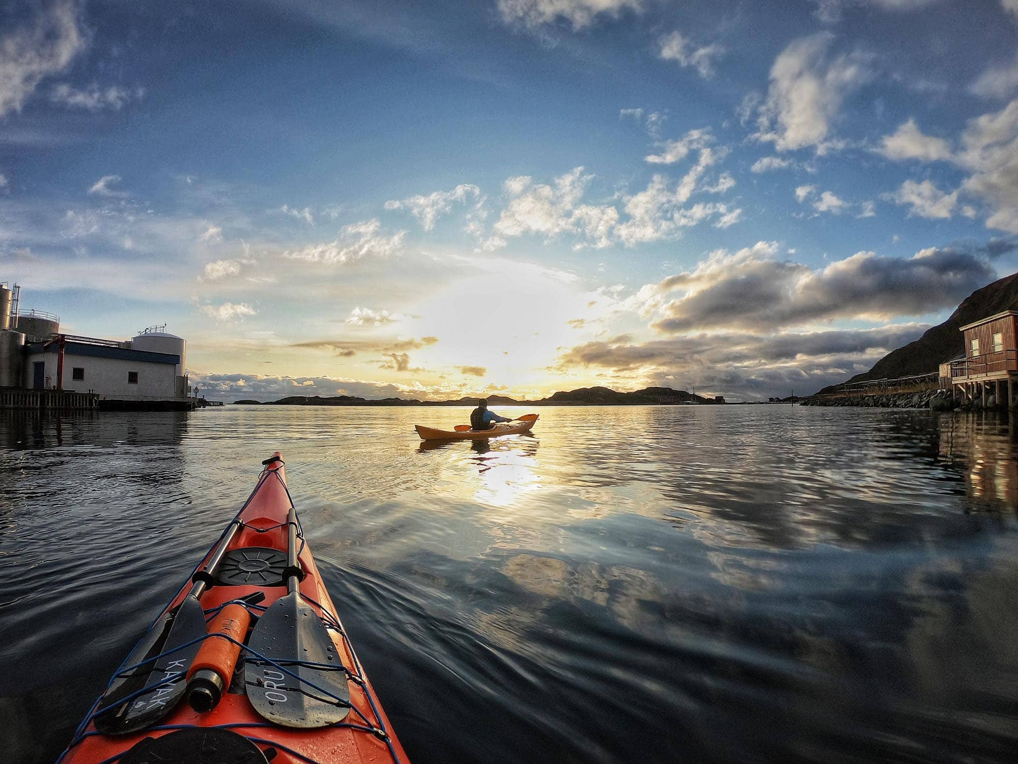 Seakayaking adventure out of Ballstad