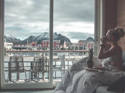 Enjoy your breakfast at Hattvika Lodge