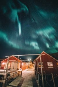 Northern Lights at Hattvika Lodge, Ballstad