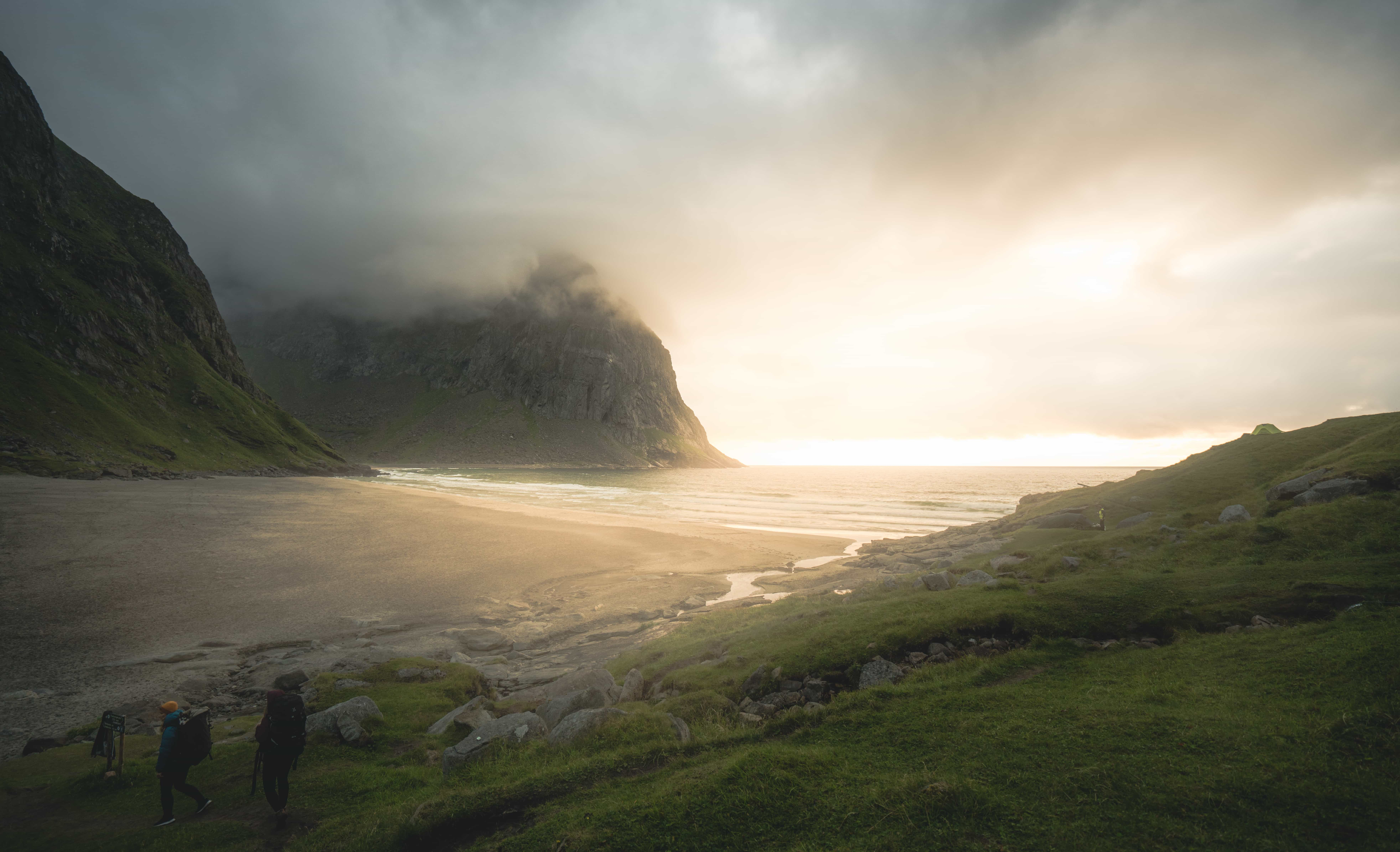 Horseid beach in the Lofoten islands
