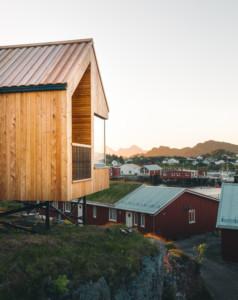 Hillside cabins at Hattvika Lodge