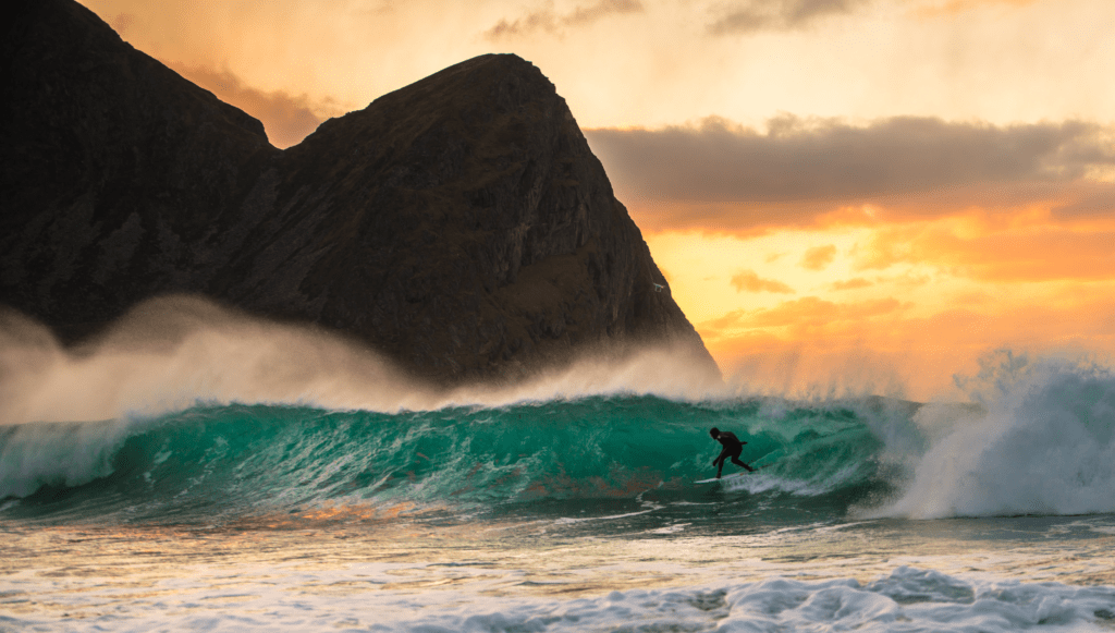 Surf at Unstad beach - Mick Fanning